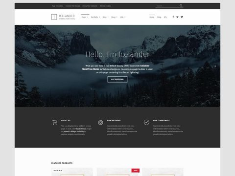 Icelander WordPress Theme