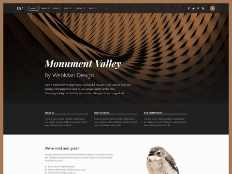 Monument Valley WordPress Theme
