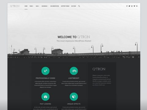 Q'tron WordPress Theme